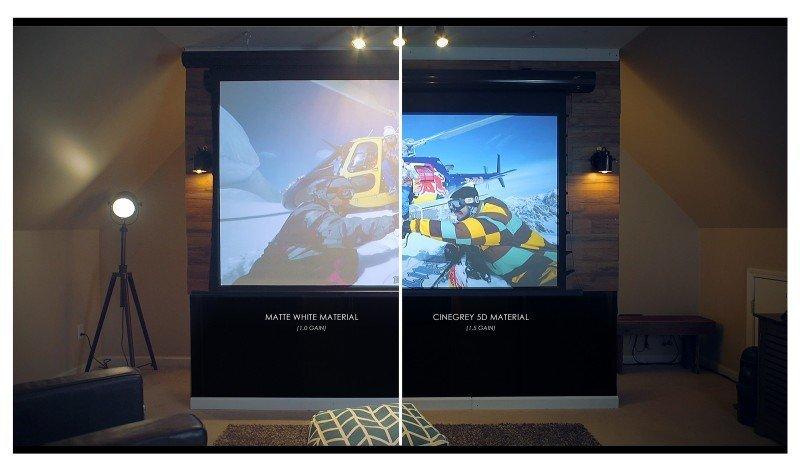 Elite Screens Tageslicht Leinwand Saker CineGrey 5D - Heimkino ...
