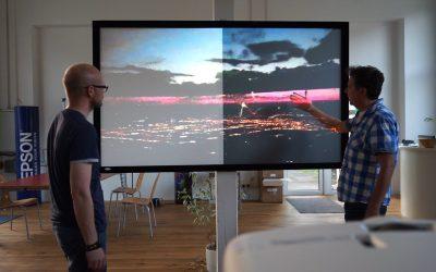 Tageslichtleinwände CineGrey 5D und React 3.0
