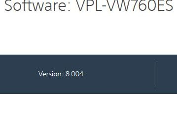 SoftwareUpdateVPL-VW760ES – Firmware update 8.004