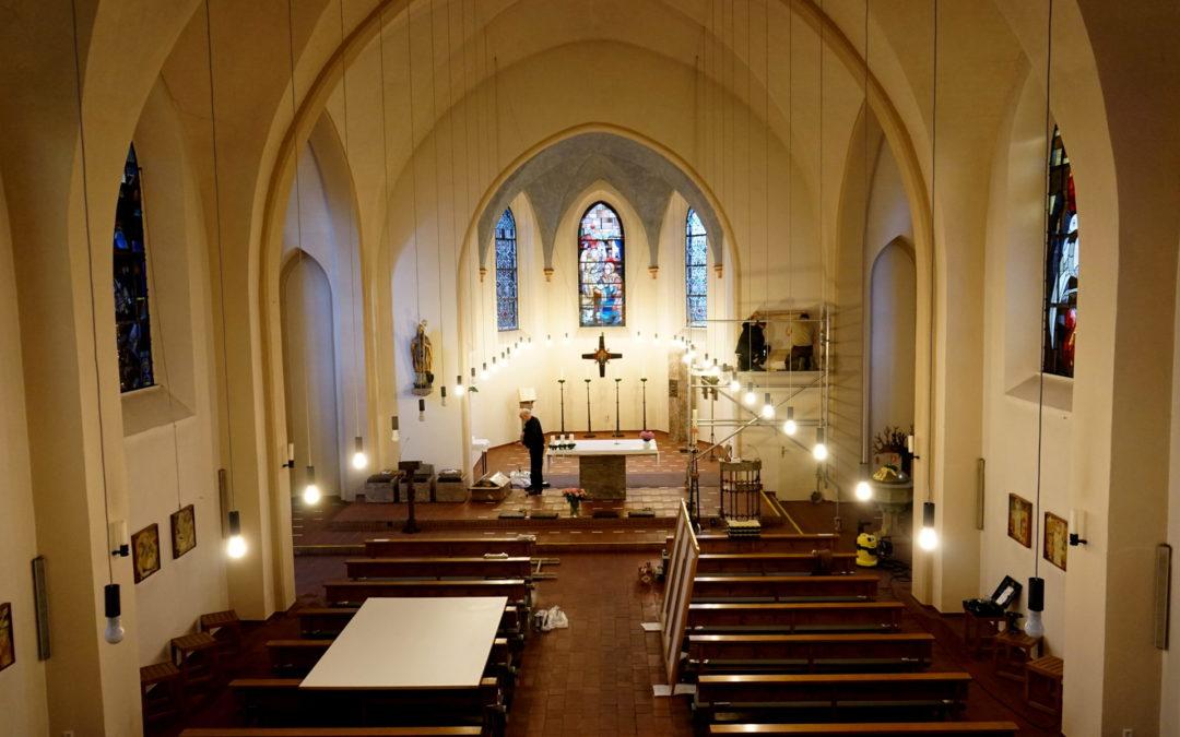 Leinwand Sonderanfertigung für eine Kirche