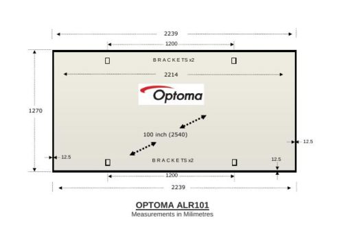 Optoma ALR101 Leinwand für Kurzdistanzprojektoren